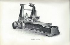 Planing Machine manufactured by Tangyes Machine Tool Co. Ltd Birmingham - from Life as an Engineer Turret Lathe, Manufacturing Engineering, Running Machines, Machine Head, Tool Shop, Antique Tools, Machine Tools, Birmingham, Workshop