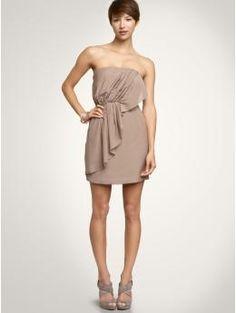 bandeau cascade dress
