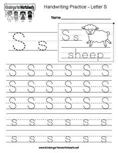Kindergarten blank writing practice worksheet printable writing letter s writing practice worksheet tracing worksheets english worksheets for kindergarten kindergarten writing ibookread ePUb
