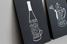 Design : Sophie Pertuisel • Série de cartes en letterpress • Boissons mortelles • Impression : Badcass