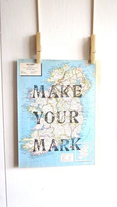 Make Your Mark, Map Print, Vintage Map Print, Map Gift, Map Art, Travel Theme, Destination Wedding, Nursery Art, World Nursery