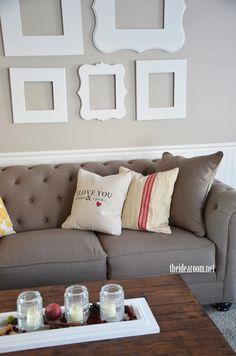 I Love You Bushel and a Peck Pillow for nursery or kid's room decor | theidearoom.net