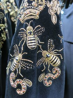 Dolce & Gabbana, rue St Honore Paris. A goldwork embroidered garment from a…