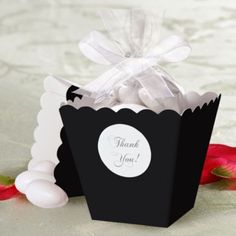 Black Popcorn Box Wedding Favor Kit - Party City