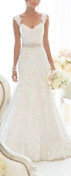 Cute Wedding Dress: Beauty Bridal Elegant Off-Shoulder Crystal Lace Wedding Dresses for Bride 2016    More at http://www.cutedresses.co/product/elegant-off-shoulder-crystal-lace-wedding-dress/ #weddingdress