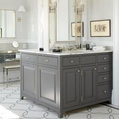 Double Sided Bathroom Vanity, Contemporary, bathroom, Peter Zimmerman Architects
