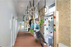 Hier word ik blij van. In Zweden worden scholen zodanig ingericht dat kinderen meer worden uitgedaagd om te bewegen. Bijvoorbeeld met gangen waar je mag rennen ipv wandelen. En wat vind je van de gang op deze foto...