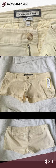 Abercrombie & Fitch Shorts Abercrombie & Fitch stretch shorts, size 0. Perfect condition, brand new with tags (from resale store). Light cream yellow color & super cute! Let me know if you have any questions, thanks! 😊 Abercrombie & Fitch Shorts Jean Shorts