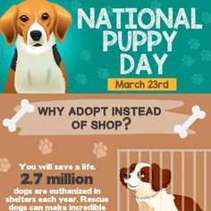 National Puppy Day - Remember, Adopt... Don't Shop! #PetTrax