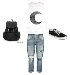 """school"" by arg-aya on Polyvore featuring Vans"
