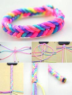 G lay Y ld r m Diy Friendship Bracelets Patterns, Diy Bracelets Easy, Bracelet Crafts, Braided Bracelets, Handmade Bracelets, Jewelry Crafts, Bracelet Making, Jewelry Making, Bracelet Tutorial