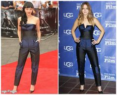 Who Wore It Better? Stella McCartney Black And Blue Striped Jumpsuit
