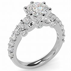 Stunning 2.00ct Claw Set Round Brilliant Engagement Ring.