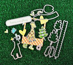 Lawn Fawn Introduces Lawn Cuts! 100% steel dies that are made in the USA. We designed them so that the white space around the stamped image is just a little over 1/32 of an inch. I love that smaller white space. It looks so clean! A perfectly cut image every time!