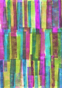 Press Print and Digital Multicoloured Stripe Pattern Art Print http://decdesignecasa.blogspot.it