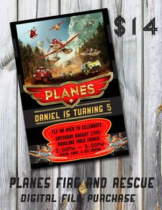 Planes Fire and Rescue Birthday Invitation by ThePaperMommie, $14.00