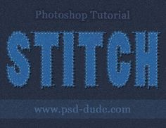 Click to read PSD TUT: Photoshop Stitch Text - Photoshop tutorial | PSDDude http://www.psd-dude.com/tutorials/photoshop.aspx?t=photoshop-stitch-text#