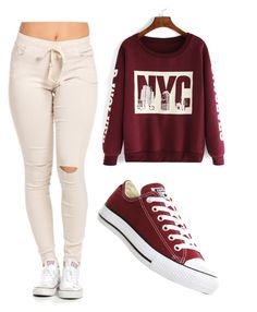 """""""Untitled #148"""" by e220012c ❤ liked on Polyvore featuring Converse, women's clothing, women, female, woman, misses and juniors"""