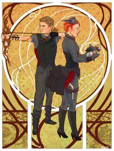 clint and natasha fan art | Fanart: Natasha Romanoff and Clint Barton in Victorian-esque costumes ...
