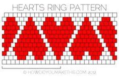 heart beading pattern - Google Search