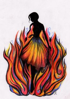 The Girl who was on Fire by La-Chapeliere-Folle.deviantart.com on @deviantART