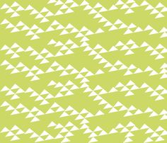 Green mountain in the summer fabric by jshin on Spoonflower - custom fabric