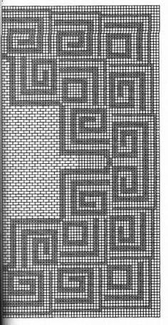 Crochet Doily Diagram, Filet Crochet Charts, Crochet Motif, Crochet Designs, Crochet Doilies, Cross Stitch Charts, Cross Stitch Patterns, Crochet Tree, Crochet Cross