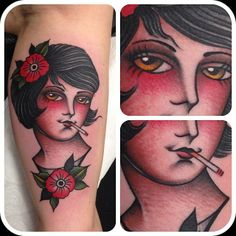 Andrea Giulimondi / Family Business  traditionnal tattoo old school pin-up