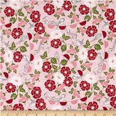 Riley Blake Remember Floral Birds Pink