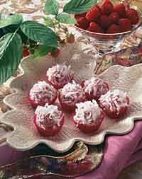 Raspberry-Coconut Truffles Photo