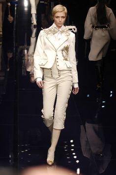 Mariacarla Boscono Dolce & Gabbana at Milan Fashion Week Fall 2006 - StyleBistro