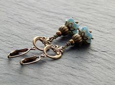 Ohrringe - Blue Romantic von Perlenfontäne auf DaWanda.com