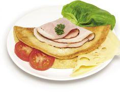 Omeleta so slaninou