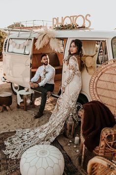 Bohemian road trip elopement ideas in Joshua Tree Wedding Party Ideas 100 Layer Cake Boho Wedding Dress, Wedding Shoot, Wedding Themes, Chic Wedding, Wedding Styles, Dream Wedding, Bohemian Wedding Theme, Lace Wedding, Gypsy Wedding