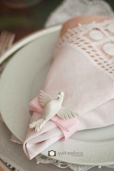 Decoração Bella Fiore batizado para Menina, Rosa e Branco.  Christening of a baby girl. Pink and White Decor. Bella Fiore.