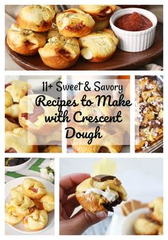 Sweet & Savory Recipes to Make with Crescent Dough- If you love that buttery canned goodness in a tube, also known as crescent roll dough, you are going to love this collection of sweet and savory recipes you too can easily recreate. Get inspired with Crescent Dough, Crescent Rolls, Roll Dough Recipe, Crescent Roll Recipes, Food Out, Appetizer Recipes, Appetizers, Dinner Recipes, Food Inspiration