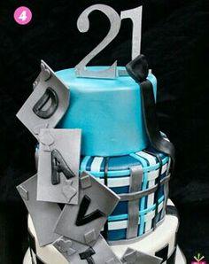21st birthday cake for him