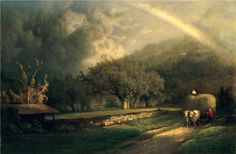 https://flic.kr/p/nDTysE | George Innes - The Rainbow in the Berkshire Hills