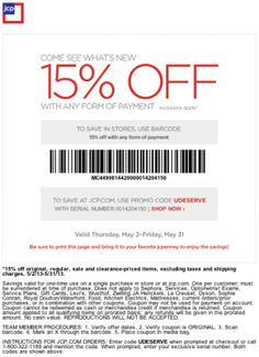 It looks like you're interested in our JCPenney Coupons 15 Off. We also offer many different JCPenney Coupons on our site, so check us out now and get to printing! Jcpenney Coupons, Free Printable Coupons, February 2015, New Hobbies, Good To Know, Printables, Shopping, Print Templates
