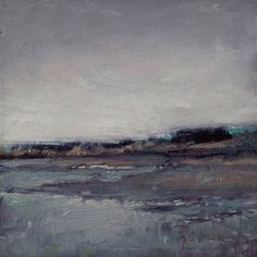 Cool Marsh; 2009, Oil on Panel 5 x 5 in ~ Paul Ferney