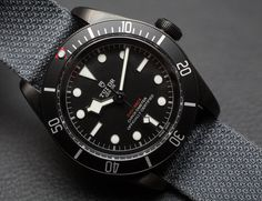 """Tudor Heritage Black Bay Dark Watch Hands-On - see the hands-on pictures, video, & read more on aBlogtoWatch.com """"For Baselworld 2016, Tudor has released some lust-worthy pieces from their Heritage Black Bay line, like the all-new Bronze model (hands-on here) and this all-black Tudor Heritage Black Bay Dark watch which also has the brand-new in-house MT5602 movement. Brooding, cool looks and this in-house movement are going to make this watch one of the standout pieces this year..."""""""