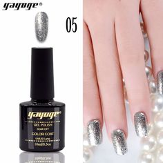 YAYOGE gel nail polish supper diamond shining Silver glitter gel varnish LED UV Gel Manicure soak off long-lasting Uv Gel Nails, Gel Manicure, Gel Nail Polish, Patrick Nagel, Glitter Gel, Silver Glitter, Nagel Stamping, Special Nails, Nail Jewelry