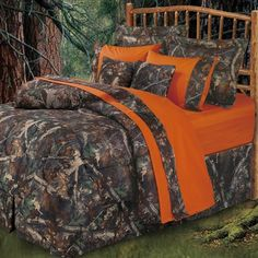 camouflage and orange bedroom for boys - Google Search
