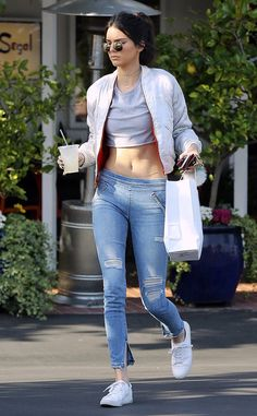 Kendall Jenner from The Big Picture: Today's Hot Pics  The model bares her midriff as she is seen grabbing takeout in West Hollywood.