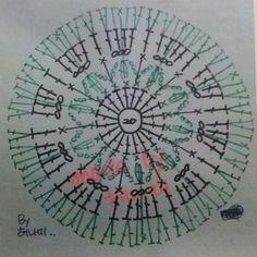 예쁜꽃 수세미 일명 국화 4년전 아기엄마님이 예쁜꽃이라며 동영상 올려 놓으신걸 그대로 그리다 꽃잎부분... Crochet Diagram, Crochet Motif, Diy Crochet, Crochet Patterns, Scrubby Yarn, Crochet Circles, African Flowers, Crochet Purses, Flower Patterns