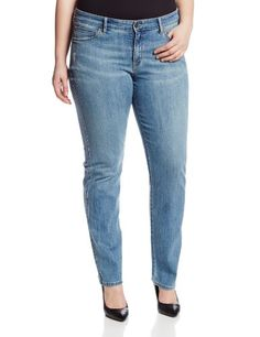 Fashion Bug Womens Plus Size Faith Straight Leg Jean www.fashionbug.us #plussize #FashionBug