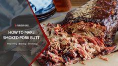 How to Make Smoked Pork Butt - Preparation, Rubbing & Smoking Guide Rib Recipes, Sausage Recipes, Veggie Recipes, Veggie Food, Healthy Recipes, Pork Meat, Pork Ribs, Bbq Ribs, Bacon Jerky