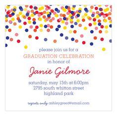 Confetti Graduate Invitation