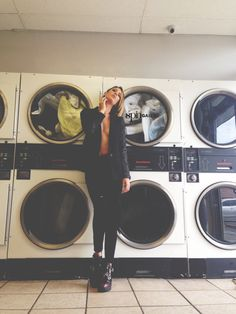 SPIN GALLERY FALL COLLECTION BTS PHOTOSHOOT AT THE COIN LAUNDRY