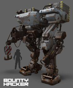 Bounty Hacker - Machine concept, Nick Carver on ArtStation at https://www.artstation.com/artwork/bounty-hacker-machine-concept